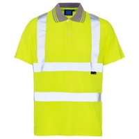 Supertouch Hi-Visibility Bird Eye Polo Shirt, Yellow