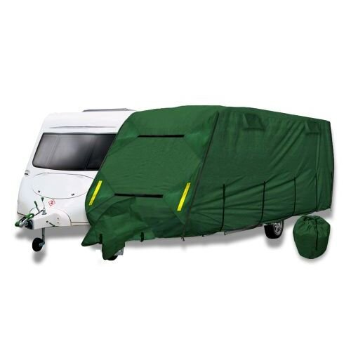 Breathable Caravan Storage Cover Size 4 - 6.48m Long to Fit Caravans From 19ft to 21ft (Forest Green)