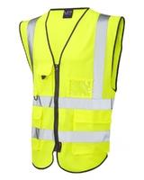 Leo Lynton Superior Waistcoat Hi-visibility Yellow