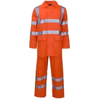 Supertouch Polyester/PVC Hi-Visibility Rainwear Rainsuit, Orange