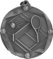 60mm Tennis Medallion (Antique Silver)