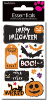 Happy Halloween  Large Essential Craft Sticker. (Priced in singles, order in multiples of 6)