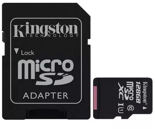 128GB MicroSDXC Canvas card+SD Adapter