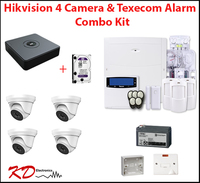 Hikvision 4 Camera CCTV & Texecom Full Alarm Kit Bundle - Special Offer!