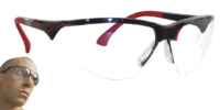 TERMINATOR GLASSES RED FRAME CLEAR LENS