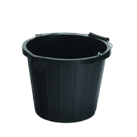 15L Black Industrial Bucket
