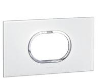 Arteor (British Standard) Plate 3 Module Round White| LV0501.0109