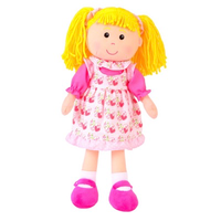 Goldilocks rag doll - standing