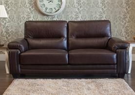 Baker Leather Sofa 1