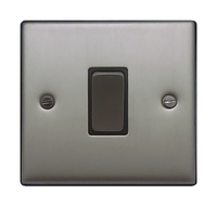 FEP Low Profile Satin Chrome 1g 2w Sw Black Insert Chrome Switch | LV0801.0001