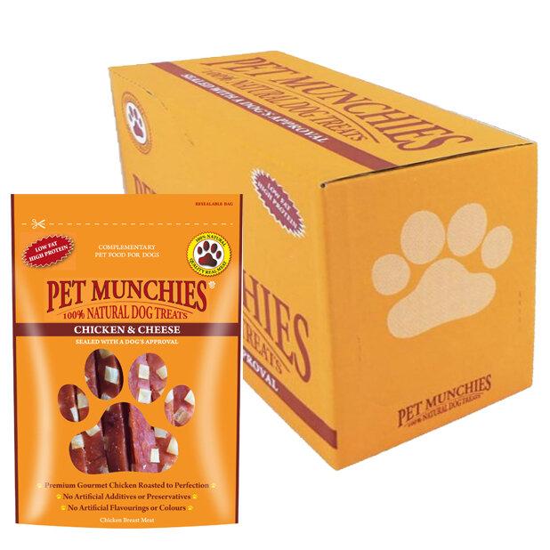 Pet Munchies Chicken & Cheese 8 x 100g