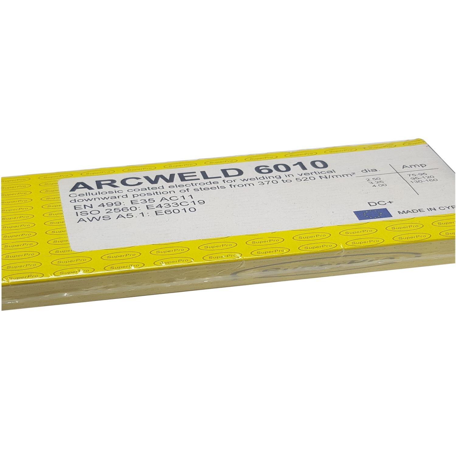 Superpro Arcweld 6010 Cellulosic Pipe Welding Electrode