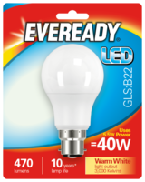 EVEREADY 5.5W (40W) B22 LED GLS 470 LUMENS