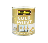 RUSTINS QUICK DRYING GOLD PAINT EXTERIOR 125ML