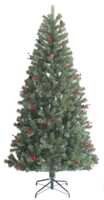 7ft Pre-Lit Green Noble Pine Tree