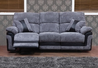 Ashmore Grey Black Recliner
