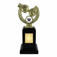 20cm Gold Boxing Trophy on Black Plinth