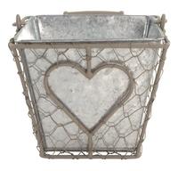 Iron Basket Square/Metal Pot