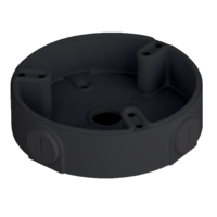 IC Realtime Black - Round Junction Base for Dome Cameras