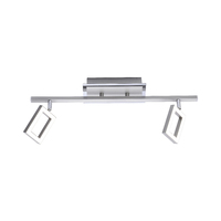 Paul Neuhaus Inigo Warm White 2 x 5W LED Stainless Steel Wall/Ceiling Light | LV2002.0006