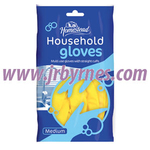 HS Household Rubber Glove Medium x12 (Hstead)