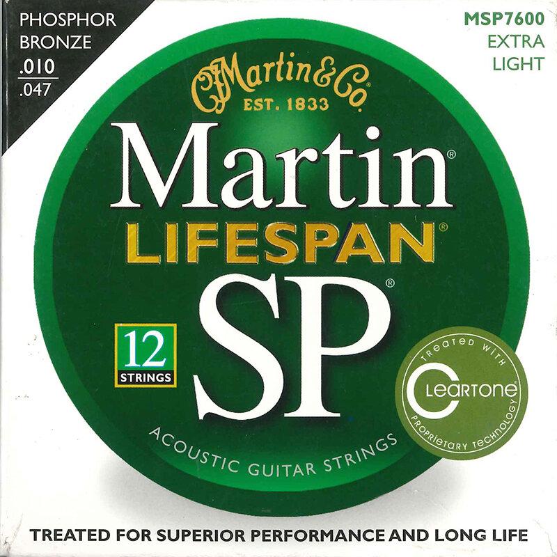 Martin Lifespan guitar string set 12 string