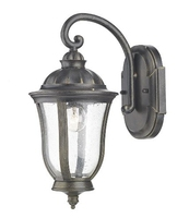 Johnson Wall Bracket Lantern IP44, Black Gold  | LV1802.0163