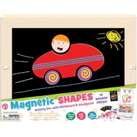 Magnetic Shapes Activity Box - blackboard
