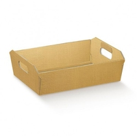 HAMPER 22x16X5  SMALL GOLD BASKET (1051) (PACK 50)