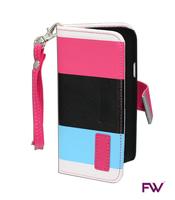 Galaxy S4 Mini Folio Pink & Blue Folio Case
