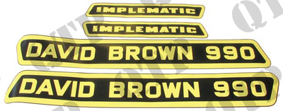 Decal Kit David Brown 990