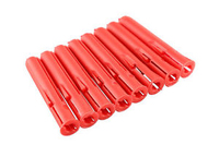 Red Plastic Wall Plugs 100