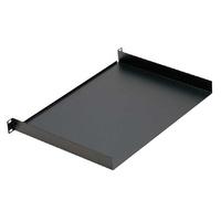 Euromet 00536 | Rack shelf, steel plate, 1U, Black