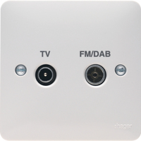 Double TV/FM/DAB CO-AX Socket Outlet | LV0301.0601