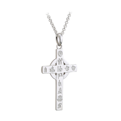 S/S HISTORY OF IRELAND SMALL CROSS PENDANT(BOXED)