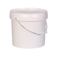 Round Snap Shut Pail With Metal Handle