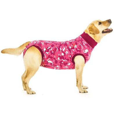 Suitical Recovery Suit Dog Pink Camouflage