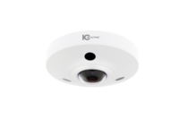 IC Realtime 6MP H.264 1.5mm Fisheye Fixed Lens 10m IR IK10 Dome with Microphone and Alarm I/O