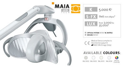 Faro MAIA LED overhead light for Dental units