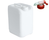 10 LTR WHITE STACKABLE JERRY CAN WITH TAP