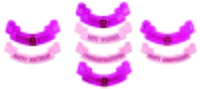 100C004 CELEBRATION BANNERS SET OF 4