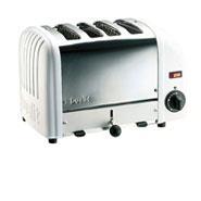 Toaster Bun Standard White Ends Proheat 4 Slot Dualit