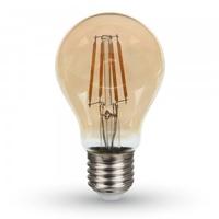 6w A60 LED Filament E27 2200K Amber Cover