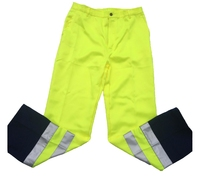 REDBACK P/C Hi-Visibility Trousers Yellow/Navy