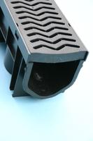 Drain Channel & Plastic Grate 1 Metre - Domestic use