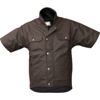 Oilskin Fleece Lined Short Sleeve Vest