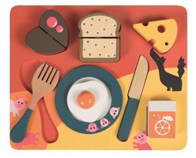 Wooden Breakfast Puzzle 3 Pigs Egmont