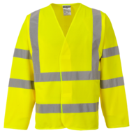 Hi Vis Long Sleeved Vest EN471 Yellow