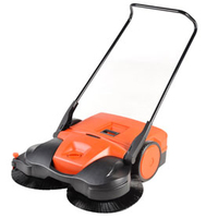The HAAGA 497 Push Sweeper equipped with turbo sweeping system