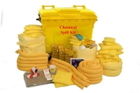 600 l Mobile Chemical Universal Spill Kit Wheeled Unit
